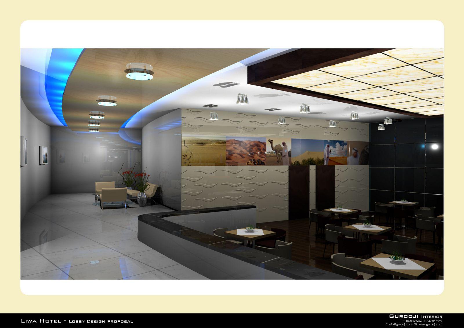 Gurooji design liwa hotel lobby re design for Design hotels tm