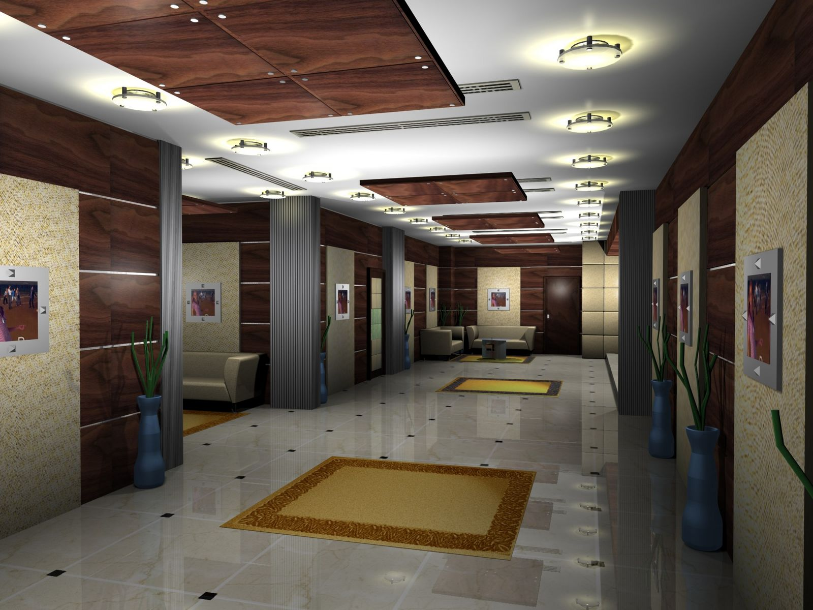 Gurooji design mont royal hotel lobby design for Villa lobby interior design