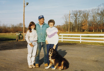 "Home for a Hug, Fall 1988. Rebecca ""Becky"", Dad ""Allie"", Mom ""Lou"", and Marvin."