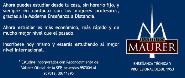 CURSOS A DISTANCIA (INSTITUTO MAURER)