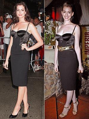 anne hathaway corset