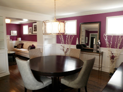 Lisa Boyer Design - Plum Living & Dining Rm. Updates!
