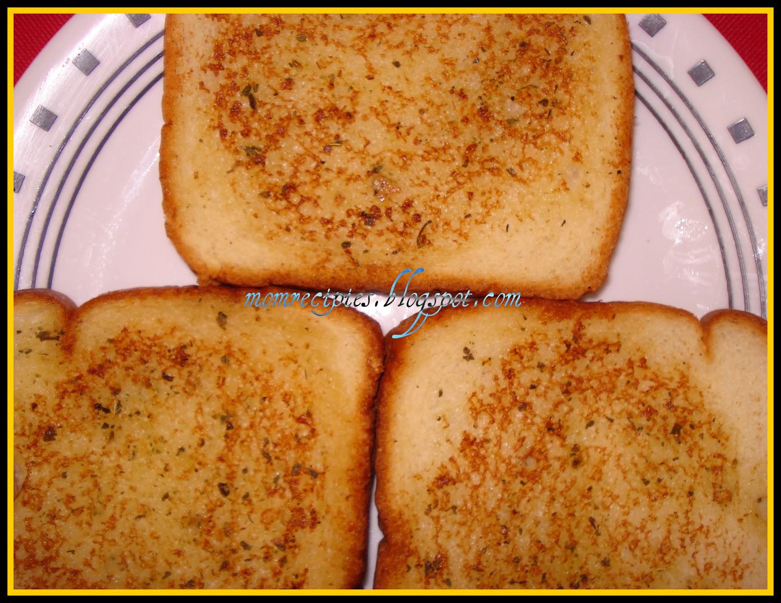 Mom's Recipies: Easy Garlic Bread