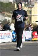 Me finishing the marathon 2007