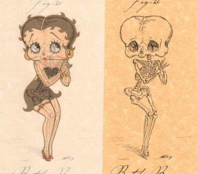 Sketsa Tulang Tokoh Cartoon Lucu