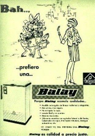 Anuncios. 1961 Balay
