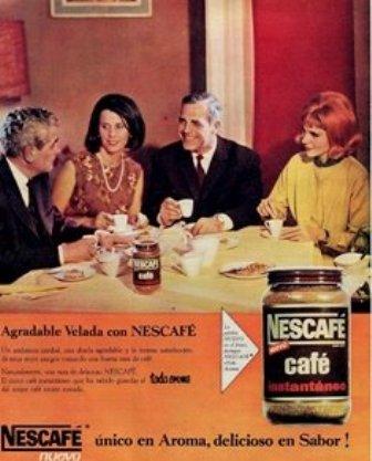 Anuncio. 1965 Nescafé. Nestlé