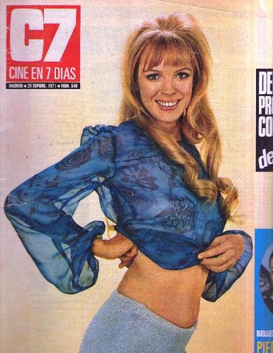CINE EN 7 DIAS AÑO 1971 Nº 546, REPORTAJE A PIER ANGELI Y A CLAUDINE LONGET