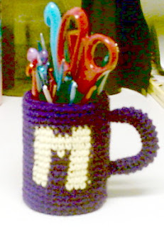 Coffee Cup Holder Pattern – Coffee and Tea DK pot