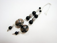 chaistolite and onyx earrings with set at laurastaley.etsy.com