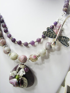 bridal jewelry lilac stone wedding set at laurastaley.etsy.com custom orders welcome