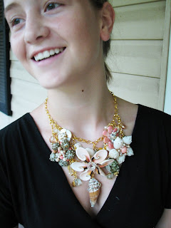 sea shell flower necklace at laurastaley.etsy.com