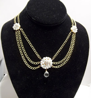 scarlett o'hara reproduction in pearls and crystal wedding jewelry at laurastaley.etsy.com
