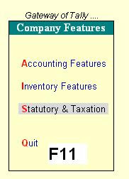 Company Features Tally 9