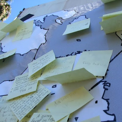 san francisco mobile museum, looking for loci, maria mortati, post-it notes, stories