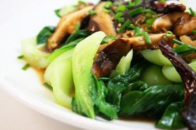 Baby Bok Choy w/ Shiitake Mushrooms