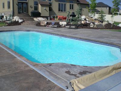 Blue Water Pools And Spa Phoenix Fiberglass Pool In Riverton Utah