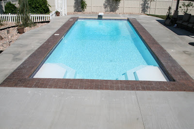 Blue Water Pools And Spa Luxor Fiberglass Pool In Riverton Utah
