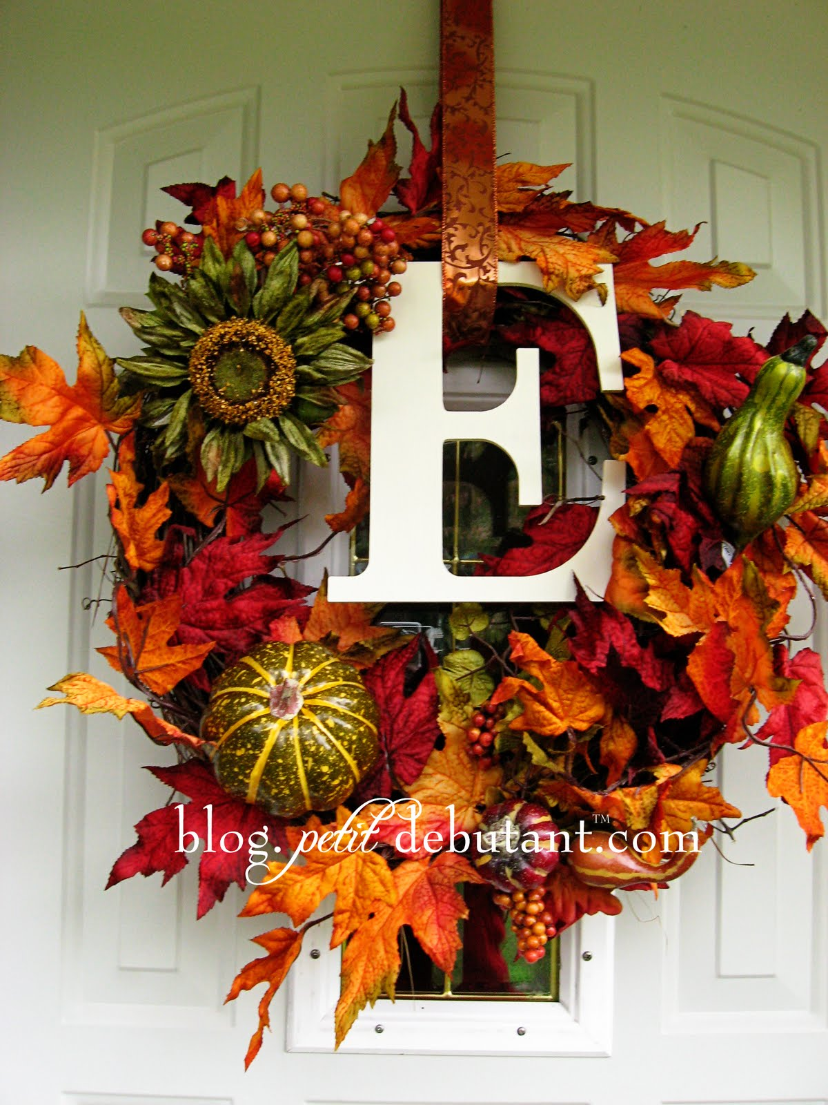Diy fall wreaths ideas classy clutter Fall autumn door wreaths