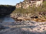 Cachoeira da trilha do garimpo de diamantes