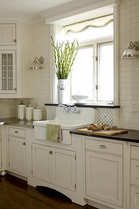 Farmhouse Sink White Cabinets : 12. Your wonderful gray cabinets, fixtures and vintage accessories.