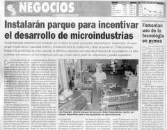 Reportagem Salon Emprendedor pela Gestão e Instalação de Micro Parque Industrial p/ Peq.Fabricas