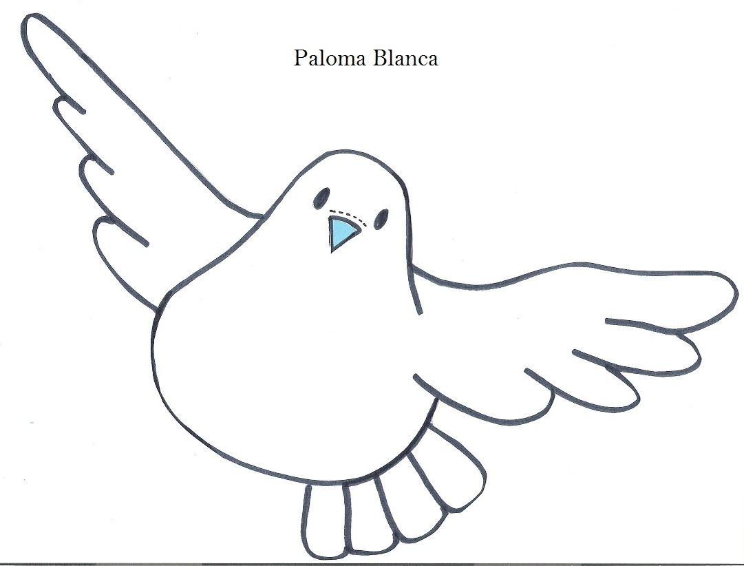 Dibujo De Una Paloma Blanca