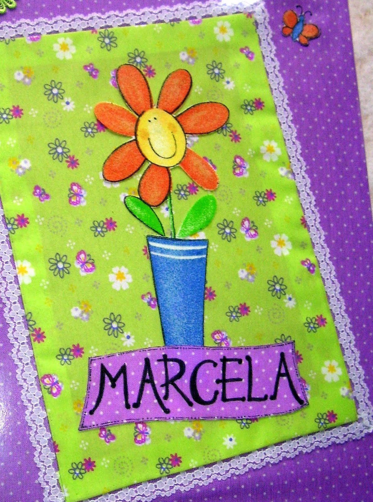 Carpeta decorada con telas recrear manualidades arte for Tela para jardin