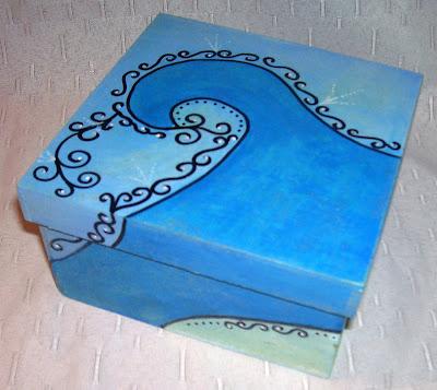 Cajas de madera pintadas recrear manualidades arte Pintar caja madera