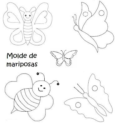 Recrear manualidades arte moldes de flores mariposas y hojas