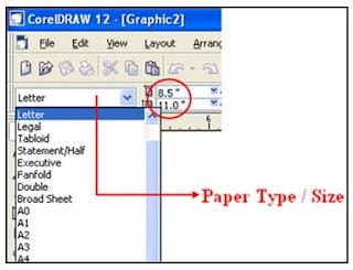 Pilih tipe kertas yang diinginkan, misalnya Letter .