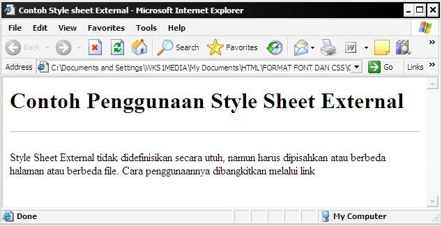 how to add an external style sheet