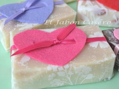 Jabones artesanales caseros San Valentin