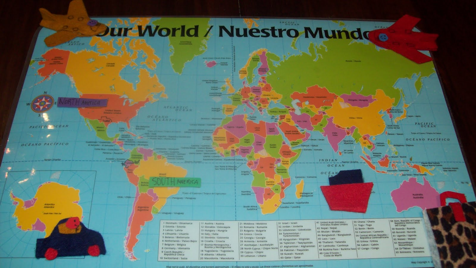 diy interactive bilingual world map for kids