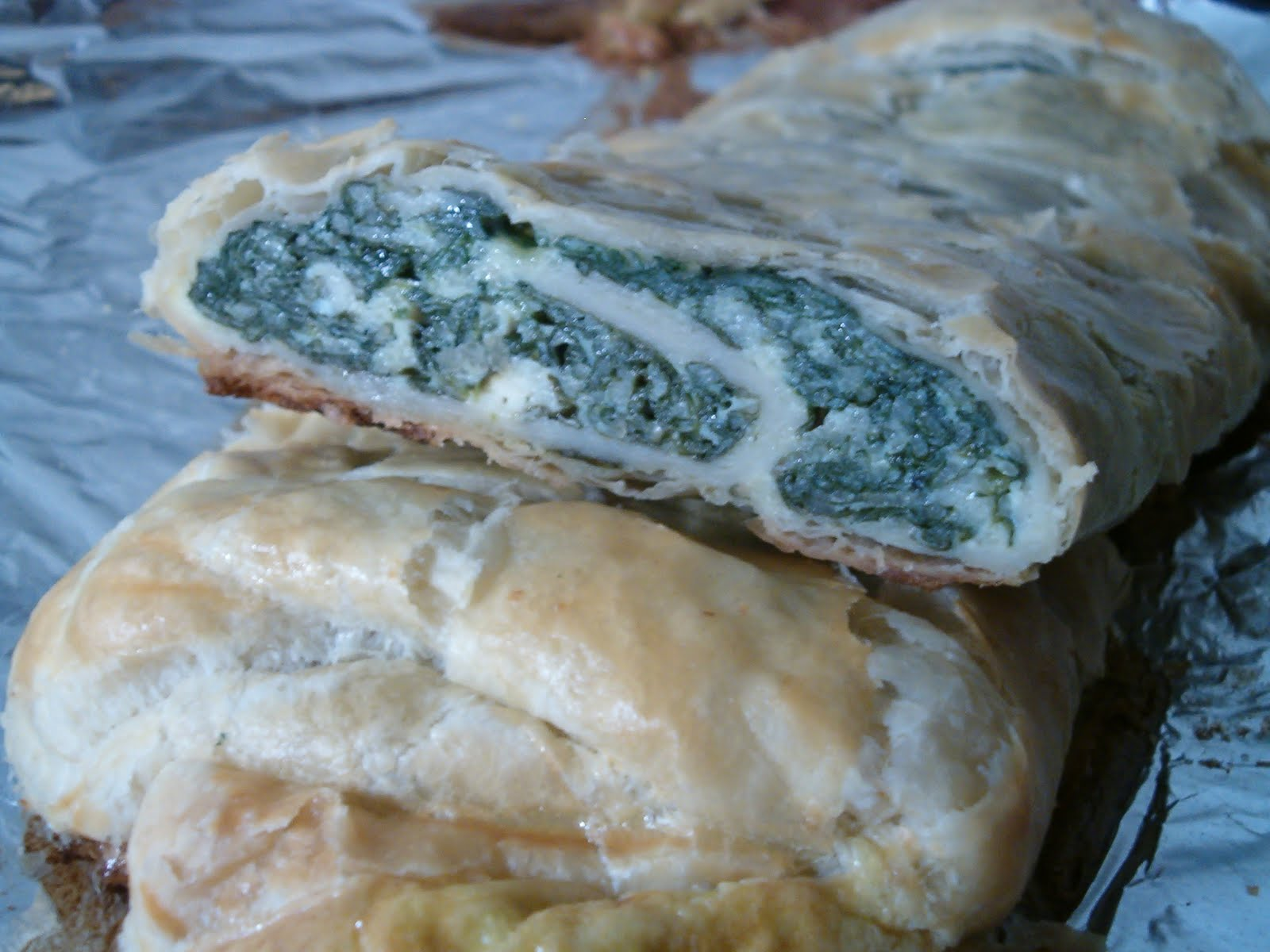 Planet of the Crepes: Spinach strudel