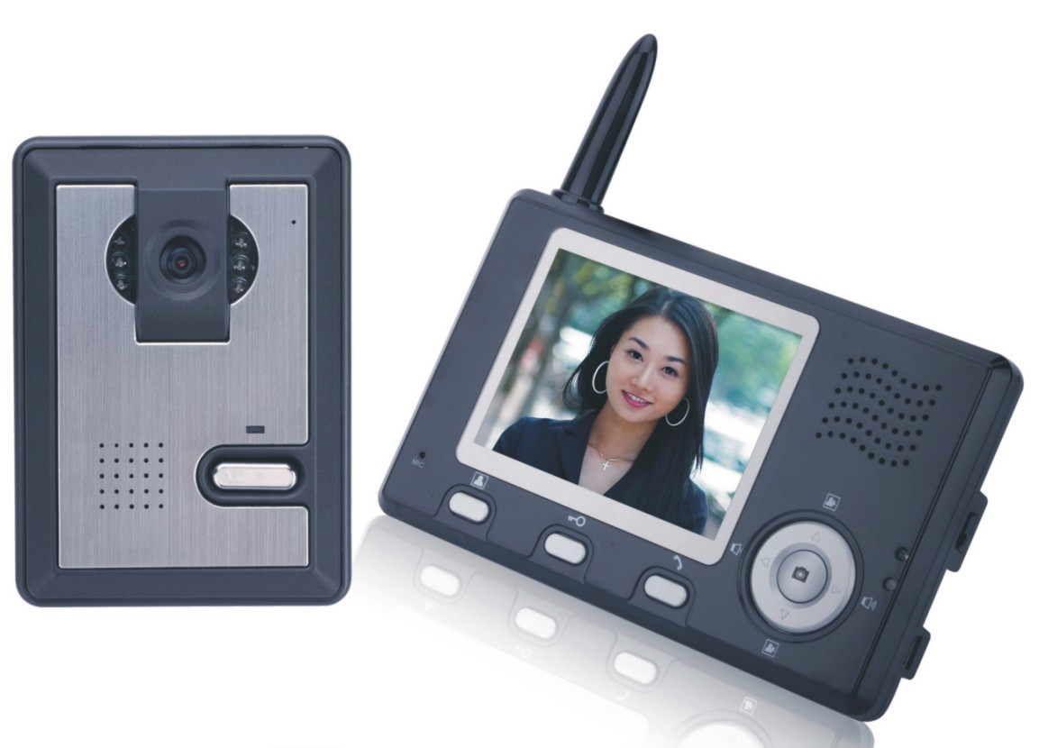 Wireless video door phone with intercom digital world for Door intercom
