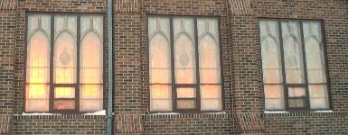 If you ignore the snow, this photo of the sunset seen through Immanuel's windows looks a lot like Pentecost, don't you think?
