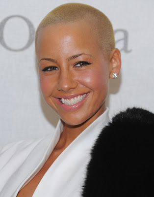 amber rose with hair long. amber rose with long hair 2011