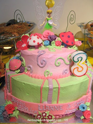 HeRbs n sPices Tinkerbell Themed Birthday Cake Chocolate Chiffon Cake
