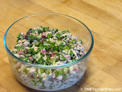 ... Healthy Swiss Chard Tuna Salad Recipe with Scallions & Kalamata Olives