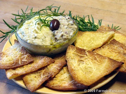 White Bean and Artichoke Dip / Spread Recipe with Rosemary, Pecorino ...