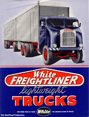 White Freightliner Advertisement