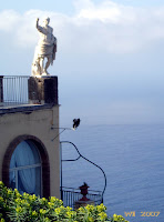 The Emperor on the terrace of Hotel Caesar Augustus