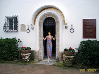 The main door of Villa San Michele (collage)