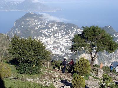 Capri and Mount Tiberio