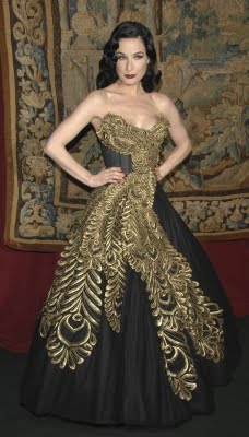 DITA VON TESSE IN THIS MARCHESA DRESS WAS THE INSPIRATION FOR MY WEBSITE