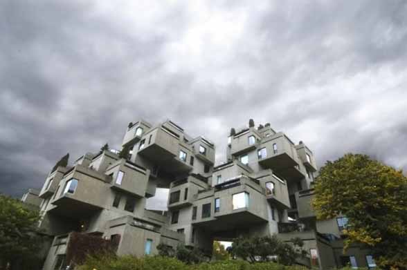 By davis more moshe safdie for Habitat 67 architecture
