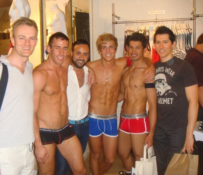 Andrew Christian Opening Night Store Opening Party Nick Verreos Gets A Swimsuit Nick Verreos