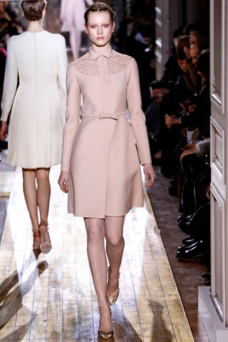 Campari And Soda Please Colored Coat Dress With Bow Waist Tie Mini Convertible Collar Valentino Haute Couture Spring Summer 2017