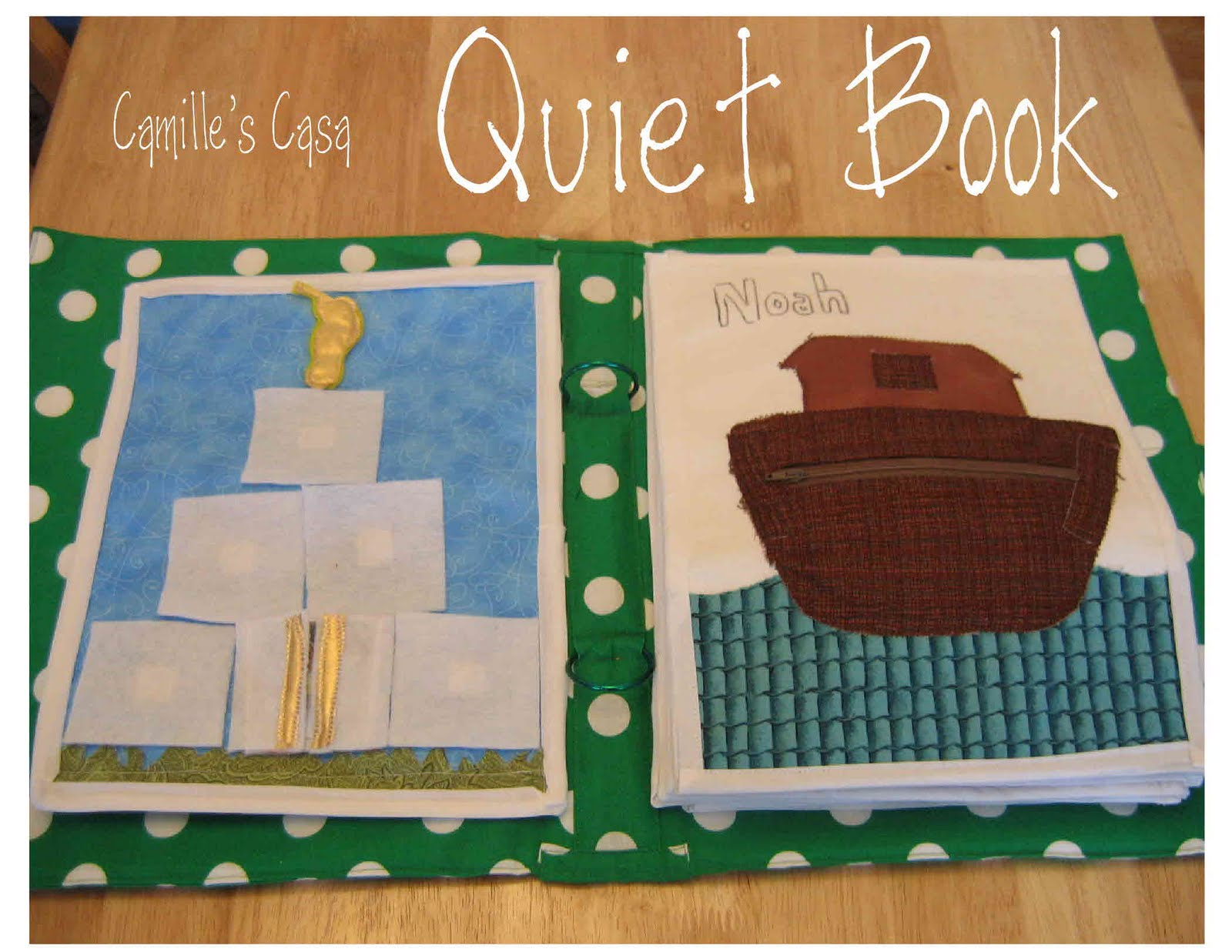 Quiet Book Cover Template : Camille s casa quiet book revealed